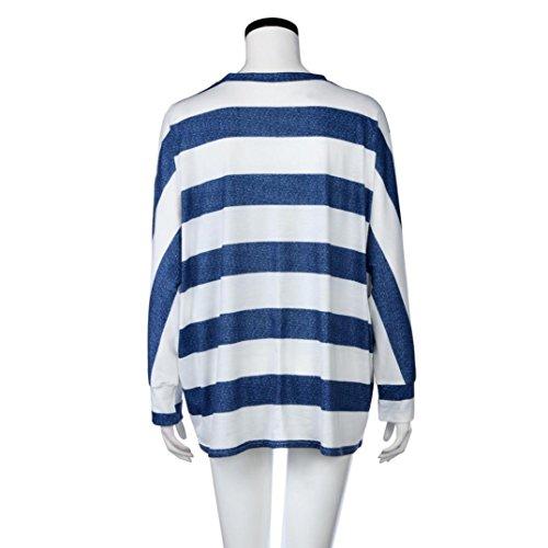 Reaso Ray Automne Haut Casual Blouse souris manches Shirt Bleu Mode Hemd Tunique Chic Col Pullover Manches Printemps Elegant Tops longues Chauve Rond Chemise Tunika Sweatshirt Hiver rqZgrnzUx