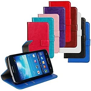 LHY Horse Grain PU Leather Full Body Cover with Stand and Case for Samsung Galaxy Express 2 G3815 , Dark Blue