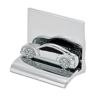 Chrome Metal Business Card Holder Car