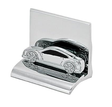 Amazon Chrome Metal Business Card Holder Car Home Kitchen