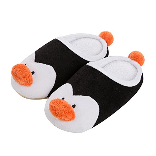 - Colias Wing Cute Penguin Warm Winter Indoor Outdoor Slippers for Little Kid