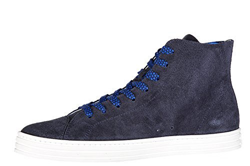 Hogan Rebel Herrenschuhe Herren Wildleder Schuhe High Sneakers r141 hi top blu