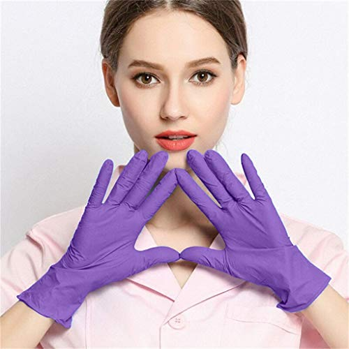 Nitrile Exam Gloves,100 Gloves – Food Handling, Medical, Janitorial, Laboratory Use Latex Free, Powder Free,Disposable…