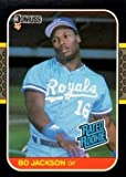 1987 Donruss Bo Jackson Rookie Baseball Card #35 - Shipped In Protective Display Case!