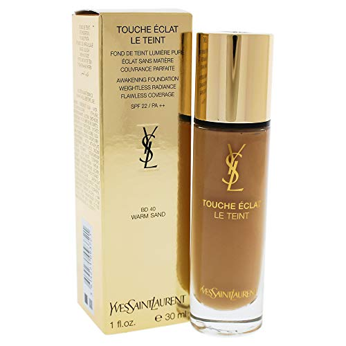 Foundation Warm Sand - Yves Saint Laurent Le Teint Touche Eclat Radiance Awakening Foundation with SPF 22, No.BD40 Warm Sand, 1 Ounce