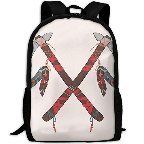 (PengLi Indian Tomahawk Adult Outdoor Leisure Sports Backpack and School Backpack)