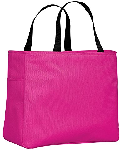 (Port & Company luggage-and-bags Improved Essential Tote OSFA Tropical Pink)