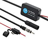 ESYNIC Car Antenna Radio FM Signal Amplifier Booster 12V 25dB ANT-208 with Indicator