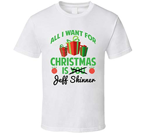 All I Want for Christmas is Jeff Skinner Buffalo Hockey Funny Fan T Shirt 2XL White