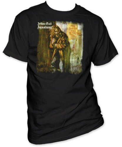 (Men's Jethro Tull Aqualung Album Cover T-shirt (Black , Medium))