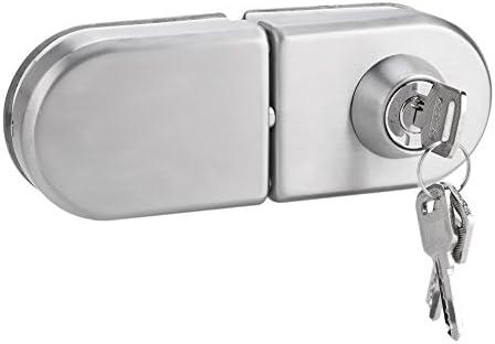 Cerradura de seguridad, Cerradura para puerta de cristal, Cerradura de seguridad antirrobo de la puerta de cristal del acero inoxidable 10~12mm con las llaves Abra/cierre el uso casero del cuarto: Amazon.es: Bricolaje