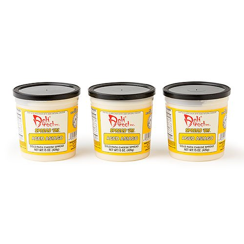 (Wisconsin Cheese Spread - Aged Asiago (3 Pack of 15oz. Each Containers))