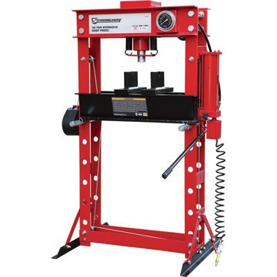 12 Press Ton (Strongway Air/Hydraulic Shop Press with Gauge and Winch - 40-Ton Capacity)