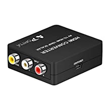 Portta PETCH AV/CVBS Composite to HDMI Mini Converter v1.3 Scaler with USB Power Cable for 720p 1080p support TV PC PS4 DVD