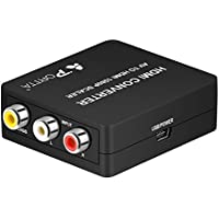 Portta AV/CVBS Composite to HDMI Mini Converter v1.3 Scaler with USB Power Cable for 720p 1080p support TV PC PS4 DVD