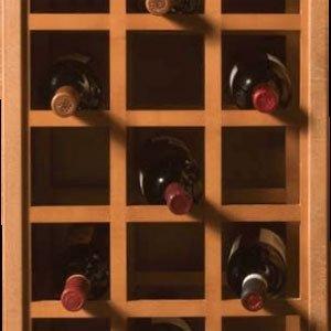 17X36 Sonoma Wine Rack Panels-Hickory