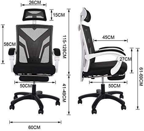 【US in Stock 7 Days Delivery】 Computer Chair Gaming Chair Racing Style Office Chair Adjustable Swivel Rocker Recliner High Back Ergonomic Computer Desk Chair with Footrest (1pc, Black) 41LAtq 2Bw11L