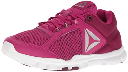 Reebok WoMen Yourflex Trainette Cross-Trainer Shoe, Multi Manic Cherry/Rustic Wine/White/Metallic Silver/Grey