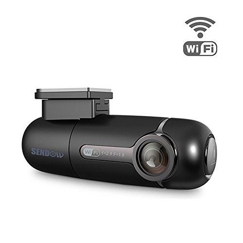 SENDOW Mini WiFi Car Dash Camera 1080P FHD 170° View Angle Sony Sensor, 360° Rotatable Lens Wireless Car DVR Recorder Cordless Dash Cam with Night Vision G-Sensor Loop Recording (Support 64G)
