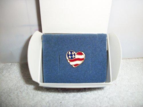 Avon Heart Brooch - Avon Heart Of America Pin