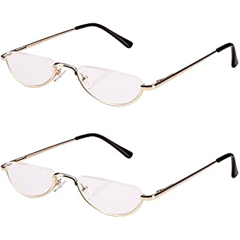 c9817c96a5f Bestum 2 Pack Reading Glasses for Mens and Womens - Comfortable Metal Frame  with Spring Hinge