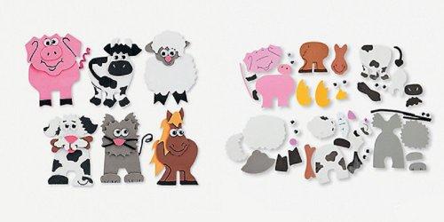 (12 ~ Farm Animal Magnet Craft Kits ~ Approx. 3.75