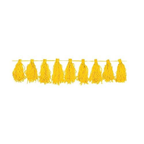 Amscan Paper Tassel Garland, 10', Yellow Sunshine
