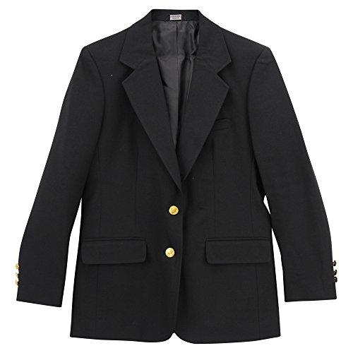 Lin Single Breasted Blazer - Edwards Women's Two Button Single Breasted Black Blazer (Black, 8 Tall)