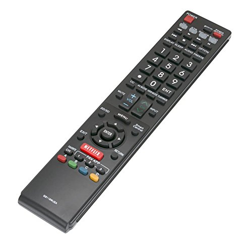 Replacement Remote Control Controller For Sharp LC-70UQ17U 70-inch, LC-80UQ17U 80-inch Aquos Q+ 1080p 240Hz 3D Smart LED TV