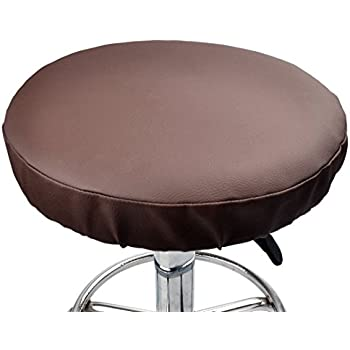 Amazon Com Enerhu Faux Leather Stool Cover Round Bar