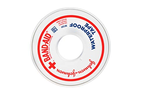 Johnson & Johnson First Aid Waterproof Tape (1-Inch x 10-Yards) (Pack of 4)