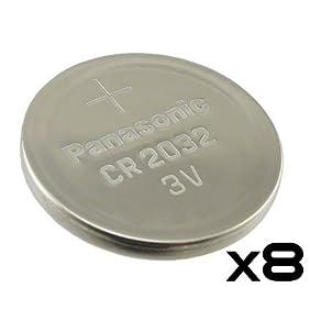 Pack of 8 -- Panasonic Cr2032 3v Lithium Coin Cell Battery Dl2032 Ecr2032