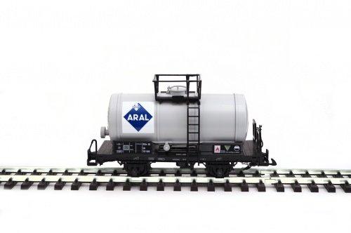 Zenner Kesselwagen, grau mit ARAL Logo, Spur G Gartenbahn, Edels