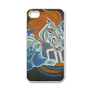 Best Diy iPhone 4 4s White cell phone case cover Denver Broncos UTgbtmFqzji NFL cell phone case cover Hard 3D