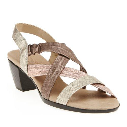 Munro Women's Stella Strappy Sandals, Multi Metallic, 7 (Munro Shoes Women)