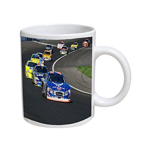 (Nascar Racing 11 oz. White Coffee Cup Mug)