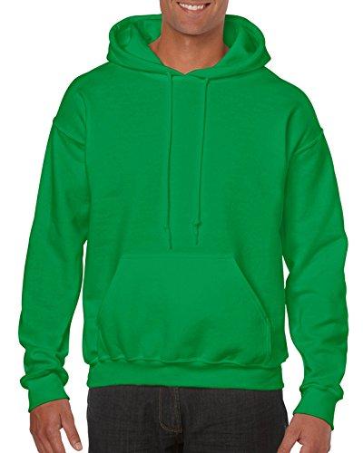 (Gildan Men's Heavy Blend Fleece Hooded Sweatshirt G18500, Irish Green,)