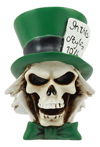 Ebros The Mad Hatter Skull Statue 3