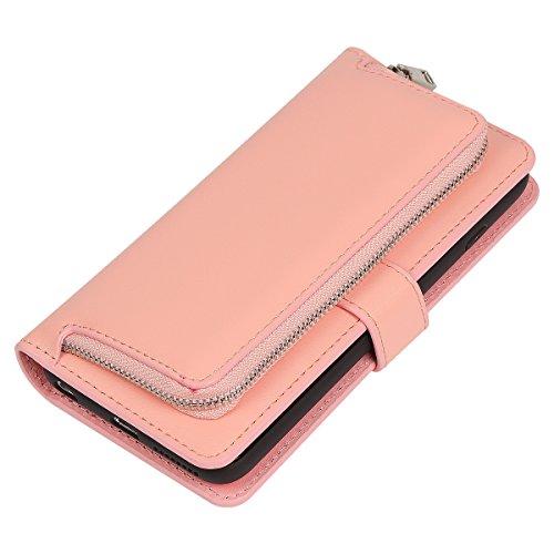 [해외]어 보브 스 아이폰 6 플러스 아이폰 6S 플러스 케이스, 탈착식 케이스, 카드 슬롯 및 ZIP 파우치 커버가있는 주최자 PU 가죽 클러치 지갑 iPhone6 ??Plus 6S/Urvoix iPhone 6 Plus