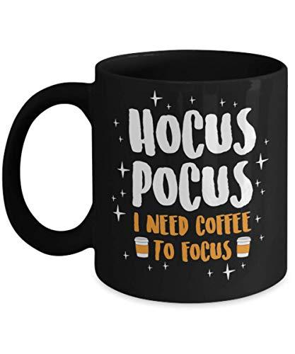 Hocus Pocus I Need Coffe To Focus Squad Hocus Pocus Halloween Mug, hocus pocus billy bones butcherson halloween saints Mug, samhain, salem spooky cree -