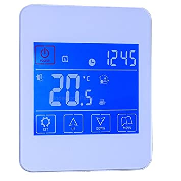 Reliance White Touchscreen Programmable Room Thermostat Temperature ...