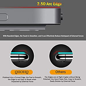 [2+2 Pack] QHOHQ Screen Protector for iPad Pro 12.9 2020 (4th Gen) with Camera Lens Protector,Tempered Glass Film,9H Hardness- HD - Anti-Fingerprint-Anti-Scratch,Compatible with Face ID & Apple Pencil (Color: Clear-4pcs, Tamaño: iPad Pro 12.9 2020)