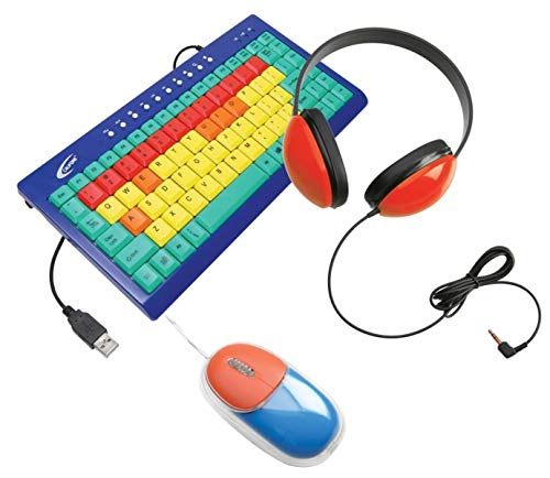 (Califone KIDSPACK Kids Computer Peripheral Package; Includes KB1 Kids Keyboard, 2800-RD Listening First Headphone and KM100 Mouse)