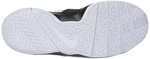 Chaussures Nike GS Team Homme Quick Hustle 004 Black White de Basketball Noir 1IAaIqxn