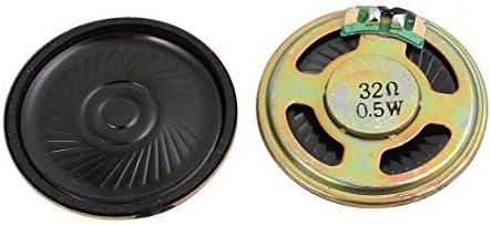 DealMux 2 piezas 40 milímetros de diámetro 32 Ohm 0.5 W Metal ...