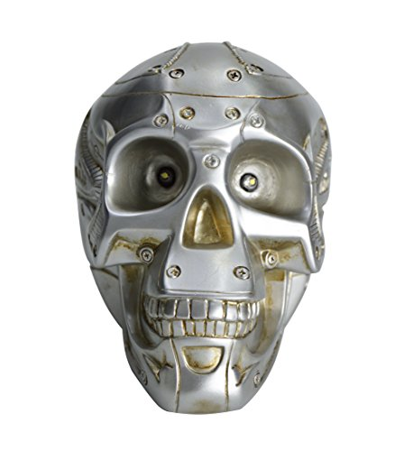 HOMESHINE Life Size Portable Wireless Bluetooth Speaker Skull with LED Light for Party and Home Decor
