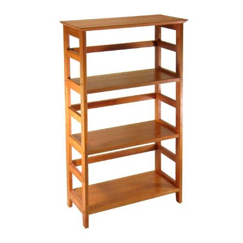 Winsome Wood 4-Tier Bookshelf, Honey (4 Shelf Winsome Bookcase Wood)