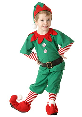[Fun Costumes Toddler Happy Christmas Elf Costume 4T] (Peppermint Costumes)