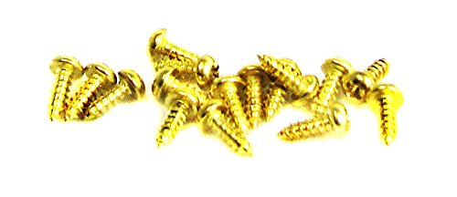 brass screws round head - 2