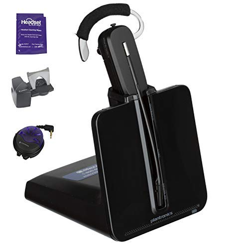 Plantronics CS540 Wireless Headset System Bundled with Lifter, Busy Light and Headset Advisor Wipe- Professional Package